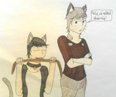 Human Felix and Leo (theundeadunicorn) by KeithStrife