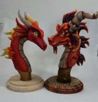 Flame Cousins WIP by DragonCid