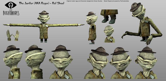 Little Nightmares - the Janitor Ref Sheet by TheCreatorsEye