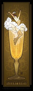 Champagne Poster by MyBeautifulMonsters