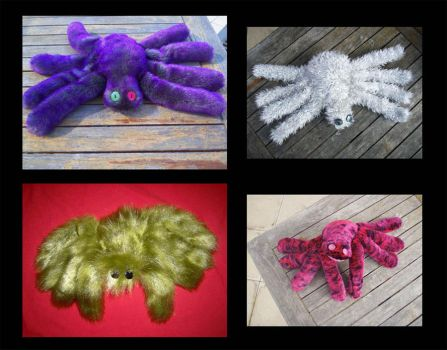 Plushie Spiders 2 by StuffItCreations