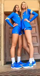 Tall Volleyball players on campus by lowerrider