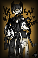 HE WILL SET US FREE....  ( BATIM ) by kirbyplushie