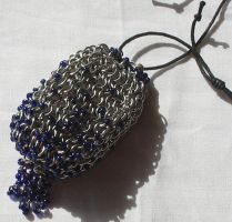 Blue Glass Pouch by MetallicVisions
