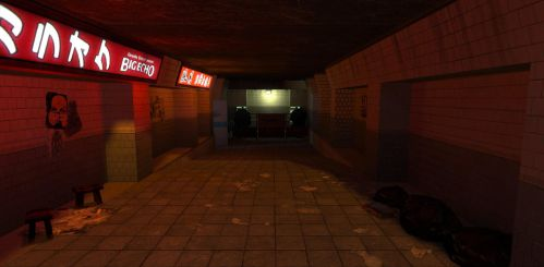 Neotokyo: Underground city exit by FuncDetail