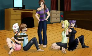 The Kidnap of Winry, Blair, and Dawn part 3 by ThatBondageGirl