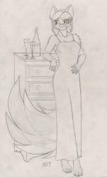 Vixen In Slinky Nightgown by Ratofblades