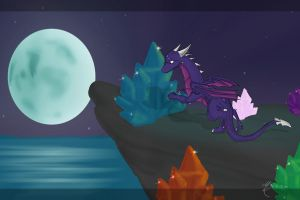 Cynder - Mysterious place by TheDragonCat