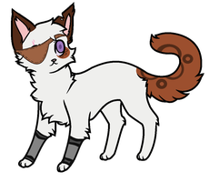Random Cat with a eye-patch (CLOSED) by PoisonFate