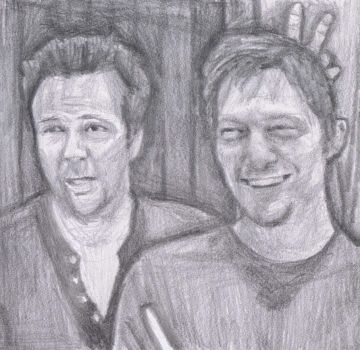 Sean Flanery and Norman Reedus - bunny ears by gagambo