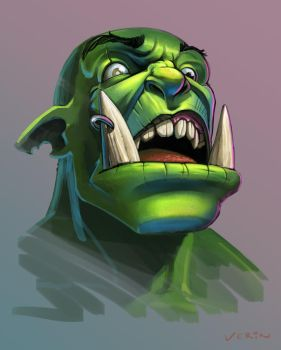Orc Face Sketch by ncrow