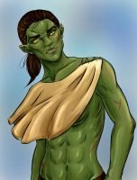 Orc girl by Erridein