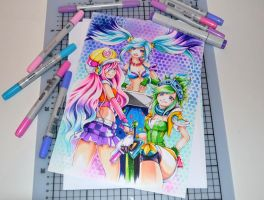 Arcade Trio by Lighane