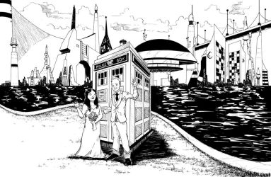 TARDIS wedding by phillipginn