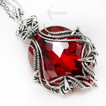 AXERTHRIX Silver and Red Zirconia by LUNARIEEN
