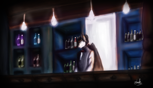 :C: Alstrard, The Bartender by Andrew-Stealfh