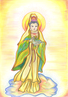 Quan Yin and the Dove of Peace (1) by Ellysa-van-Vugt