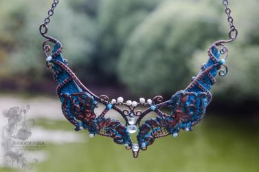 Necklace 'On the wings of Zephyr' by Madormidera