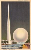 Vintage New York - Trylon and Perisphere by Yesterdays-Paper