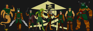 The Crew of Misfortune's Keep by BobBricks