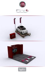 FIAT 500 L 3D STAND by boura2004