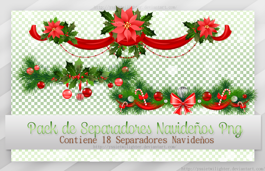 Pack de Separadores Navidenos Png ~*~ by yssietwilighter