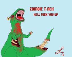 Zombie T-Rex by EggrawlQueen