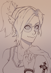 [Lineart] Mercy by AlSklad