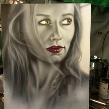 Tori Amos airbrush painting by spasticfool