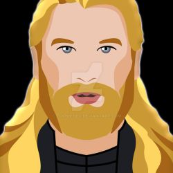 Thor Portrait by Tooniefied