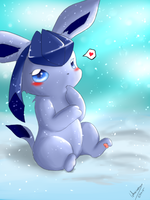 Glaceon and the Snow by Lekisceon
