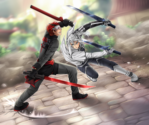 Commission: Argent vs Adam (Round 2) by manu-chann