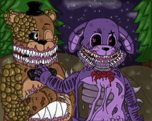 [Fnaf/Twisted Fronnie] A Couple Of Monsters by ThunderXLeaf