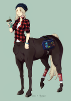 Modern centaur girl by Blue0Mackerel