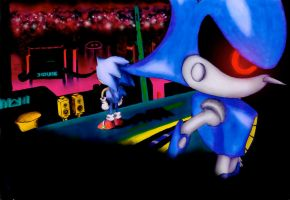 Sonic's 20th: Stardust Fate - Sonic VS Metal -PS- by Hyper-Shan