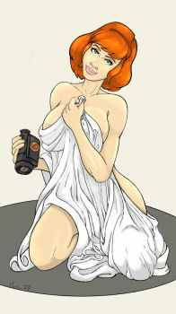 April O'Neil 'undercover reporter' color by Marker77