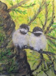 Chickadee Lovebirds by PEISeaChange