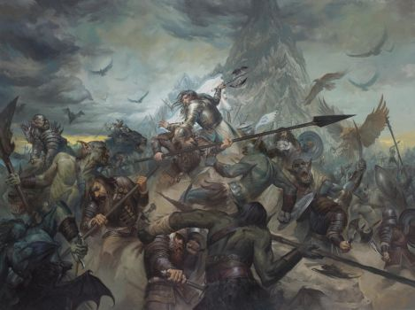 The Last Stand of Thorin Oakenshield by LucasGraciano