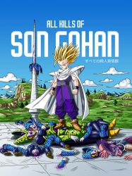 All kills of Son Gohan (full color) by albertocubatas
