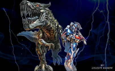 Optimus Prime and Grimlock: Age of Extinction by celtakerthebest