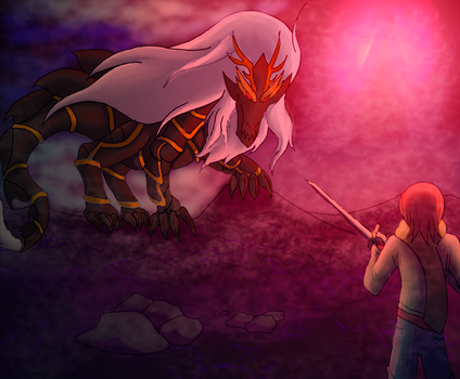 Duel of the Scarlet Moon by AxisofDestruction