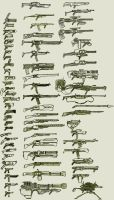 Guns...lots of guns by weaponry-guild