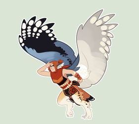 [Closed] [Auction] Harpy Adopt by kaybirbee