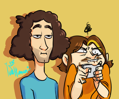the grump and the not so grump by IvaTheHuman
