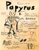 Undertale journal: Papyrus by DarkCartoon122