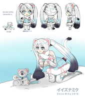 2018 IIZUNA Snow Miku entry by TenneLuna