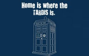 Home Is Where The TARDIS Is...Desktop Wallpaper by Calypso1977
