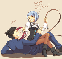 Phoenix and Franziska by raemz-desu