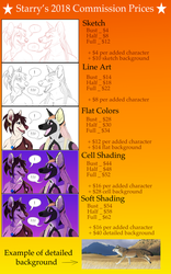 2018 . Commission Prices // OPEN by StarrysStudio