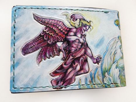 Kefka God form leather wallet by Bubblypies